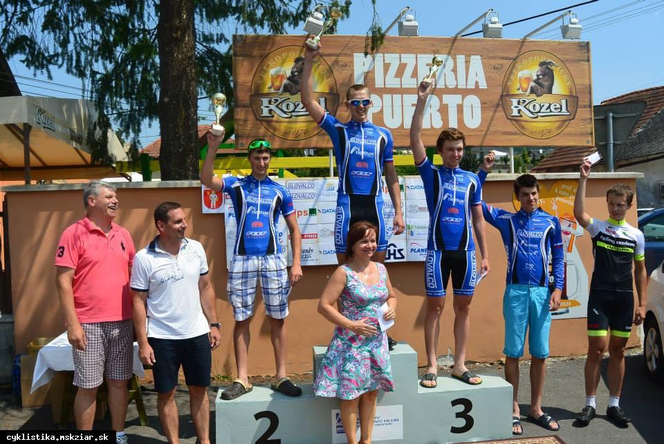 obr: Úspešné vystúpenie domácich cyklistov