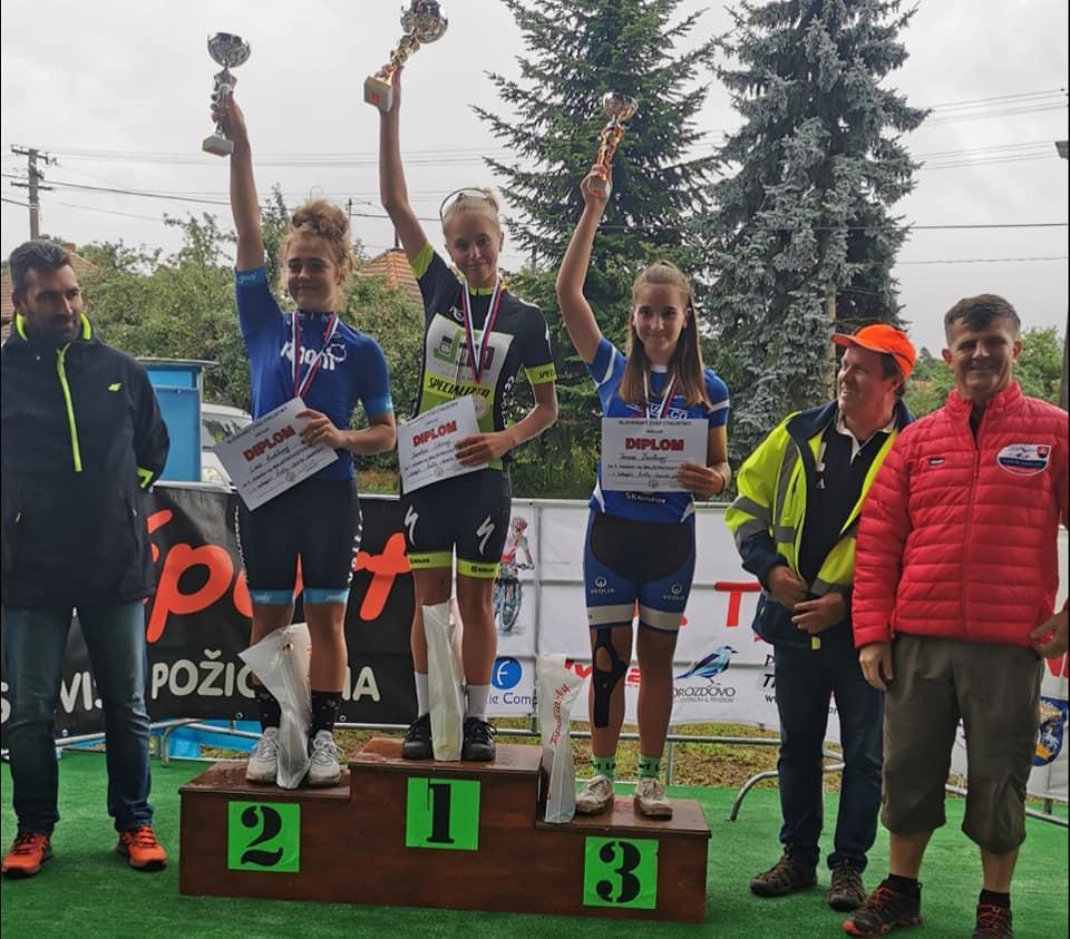 Majstrovstvá Slovenska v časovke jednotlivcov bronz pre Ďuríkovú a Sochana