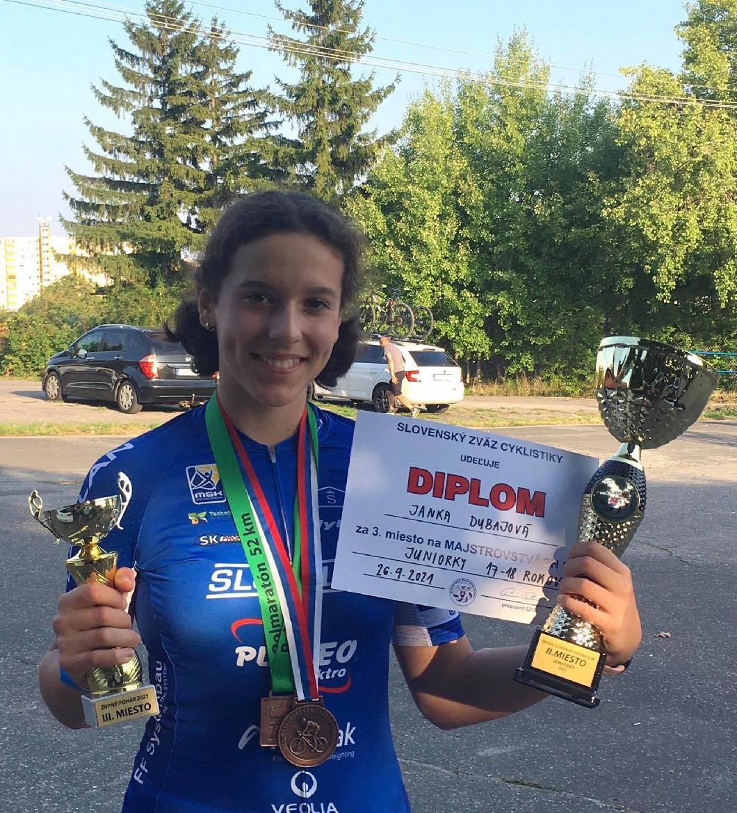Dubajová získala bronz na majstrovstvách Slovenska