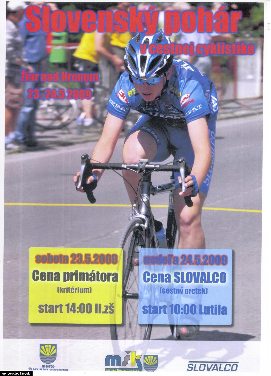 obr: Cyklistické preteky v Žiari nad Hronom
