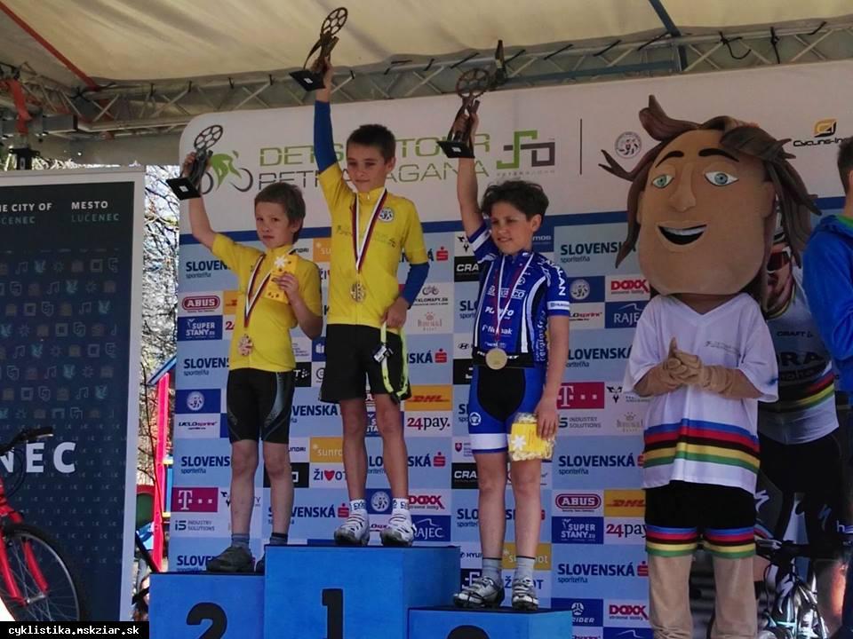 obr: J.Benča tretí na Detskej tour Petra Sagana