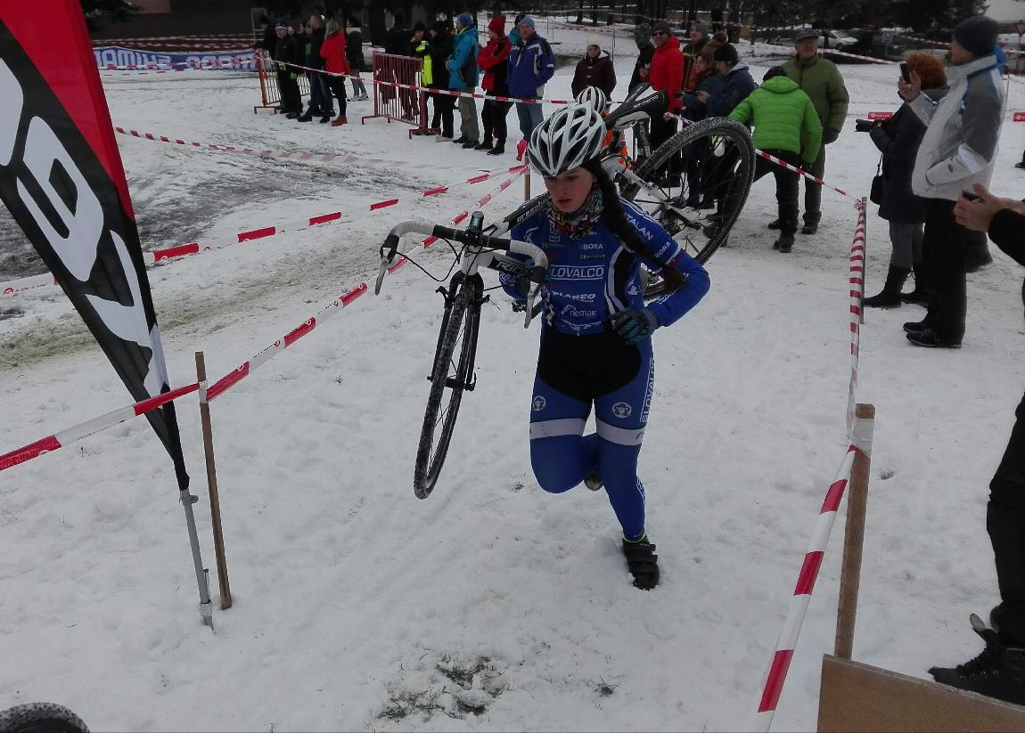 Zelinová a Černek  bronzoví na M-SR v cyklokrose.