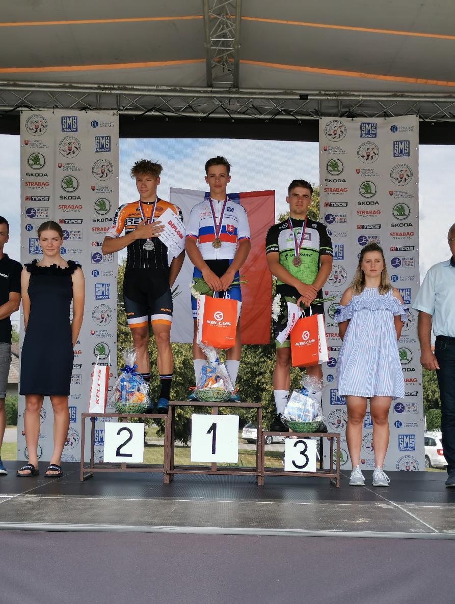 obr: Lukáš Ungvarský juniorský majster Slovenska v cestnej cyklistike