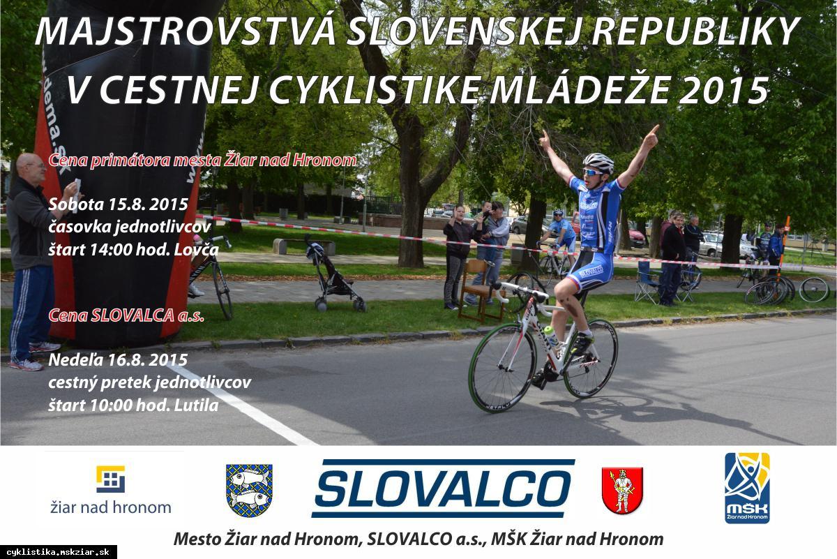 obr: M-SR mládeže v cestnej cyklistike v Žiari nad Hronom