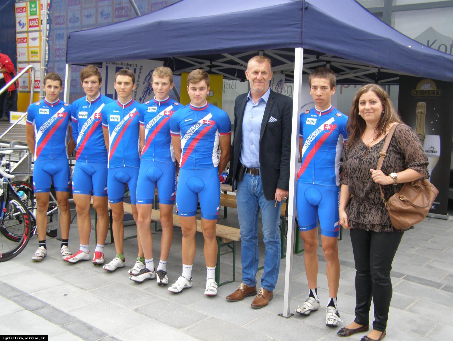 obr: Žiarski cyklisti na pretekoch v Rakúsku