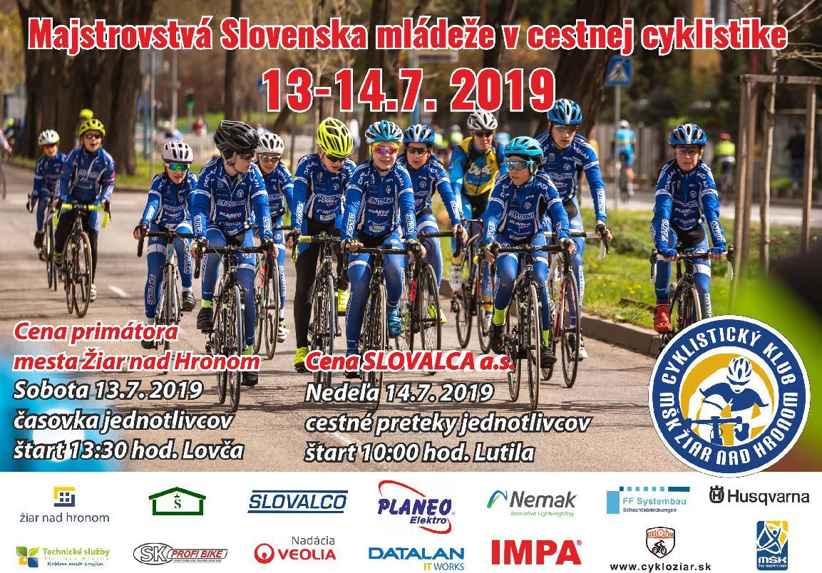 obr: Majstrovstvá Slovenska mládeže v cyklistike